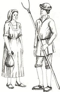 Kleidung im mittelalter bauern frauen